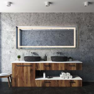 Edison Crystal Rectangular Silver 72-Inch LED Bathroom Mirror