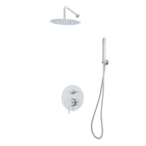 Spectrum Brushed Nickel Shower Faucet with Hand Shower
