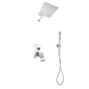 Uno Brushed Nickel Shower Faucet System with Hand Shower