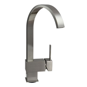 Hudson Brushed Nickel Low Lead 12.5-Inch Contemporary Modern Bath, Vanity, Bar Faucet