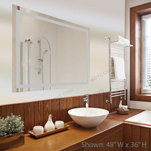 Edison 24x32 Horizontal/Vertical Wall Mounted Backlit Vanity Bathroom LED Mirror with Touch On/OFF Dimmer and Anti-Fog