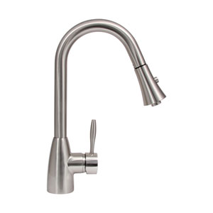 Platinum Series Brushed Nickel Low Lead Gila Modern Pull Out Kitchen Faucet