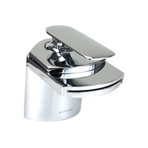 Marble Polished Chrome Low Lead 4.5-Inch Waterfall Bathroom Sink Faucet
