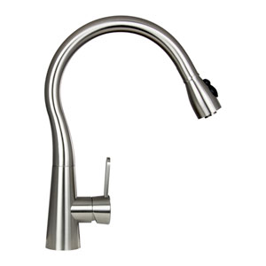 Sophia Stainless Steel Low Lead Pull-Out Kitchen Faucet