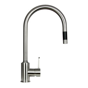 Flor Stainless Steel Low Lead Pull-Out Kitchen Faucet