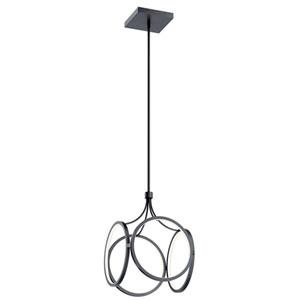 Ciri Matte Black 14-Inch LED Pendant