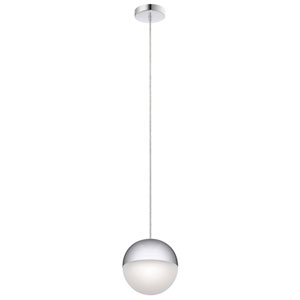 Moonlit Chrome Eight-Inch LED Mini Pendant