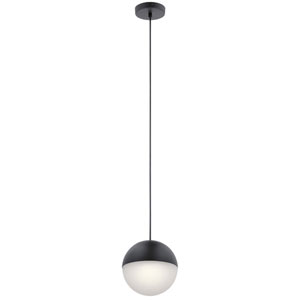 Moonlit Matte Black Eight-Inch LED Mini Pendant