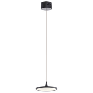 Jeno Matte Black Nine-Inch LED Mini Pendant