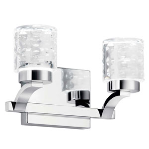 Rene Chrome Two-Light LED Bath Vanity