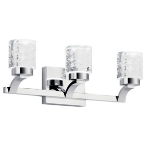 Rene Chrome Three-Light LED Bath Vanity
