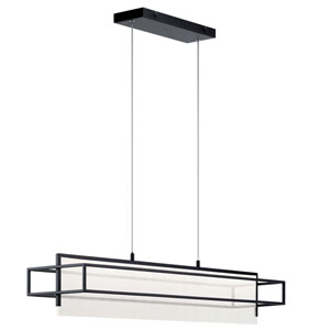 Vega Matte Black LED Pendant