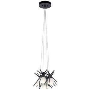 Beale Matte Black Five-Light LED Pendant