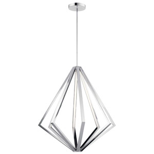 Everest Chrome Eight-Light LED Chandelier