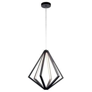Everest Matte Black Six-Light LED Chandelier