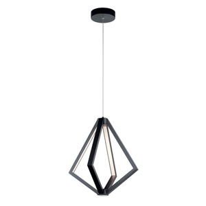 Everest Matte Black Four-Light LED Pendant