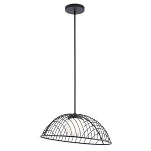 Clevo Matte Black 12-Inch LED Pendant