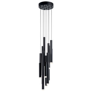 Soho Black Eight-Inch 12-Light LED Mini Pendant