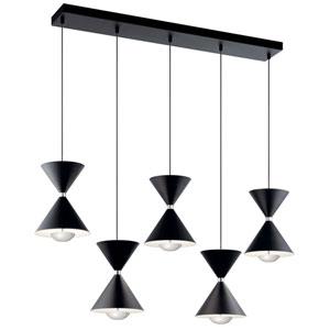 Kordan Black Five-Light LED Pendant
