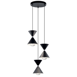 Kordan Gloss White Three-Light LED Pendant