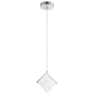 Carbon Chrome Nine-Inch LED Mini Pendant
