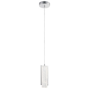 Carbon Chrome Four-Inch LED Mini Pendant
