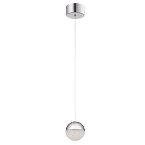 Moonlit Brushed Nickel LED Mini Pendant