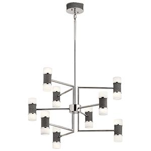 Vey Polished Nickel Nine-Light LED Chandelier