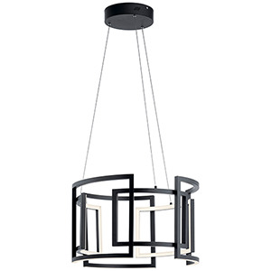 Melko Black 23-Inch Nine-Light LED Pendant