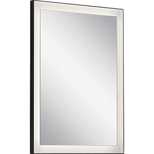 Ryame Matte Black 23-Inch LED Lighted Mirror