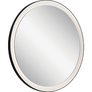 Ryame Matte Black 31-Inch LED Lighted Mirror