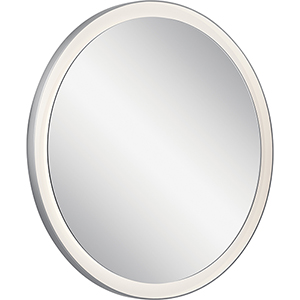 Ryame Silver Matte 31-Inch LED Lighted Mirror