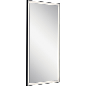 Ryame Matte Black 30-Inch LED Lighted Mirror