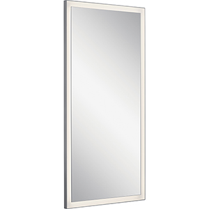 Ryame Silver Matte 30-Inch LED Lighted Mirror