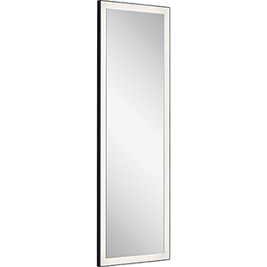 Ryame Matte Black LED Lighted Mirror