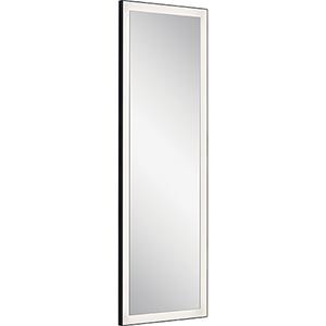 Ryame Matte Black LED Lighted Mirror