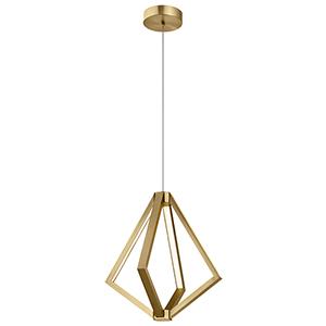 Everest Champagne Gold 19-Inch Six-Light LED Chandelier