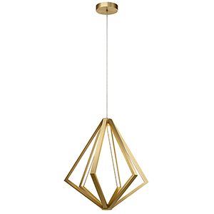 Everest Champagne Gold 24-Inch Six-Light LED Chandelier