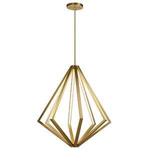 Everest Champagne Gold Eight-Light LED Chandelier