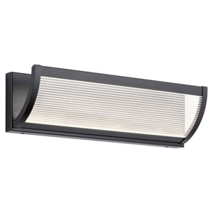 Roone Matte Black 19-Inch LED Bath Bar