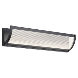 Roone Matte Black 24-Inch LED Bath Bar