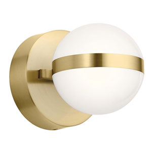 Brettin Champagne Gold Five-Inch LED Wall Sconce