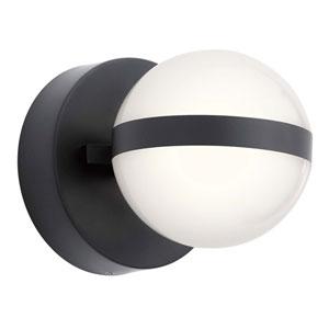 Brettin Matte Black Five-Inch LED Wall Sconce