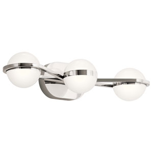 Brettin Polished Nickel 24-Inch Three-Light LED Bath Vanity