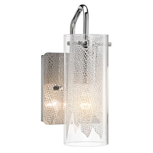 Krysalis Chrome One-Light Wall Sconce