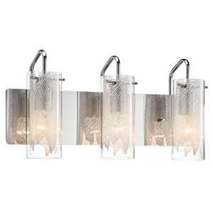 Krysalis Chrome Three-Light Bath Vanity Fixture