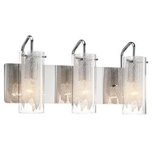 Krysalis Chrome Three-Light Bath Vanity Fixture