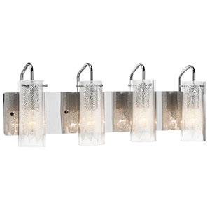 Krysalis Chrome Four-Light Bath Vanity Fixture