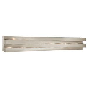 Massimik Nickel Six-Light Linear Bath Vanity Fixture