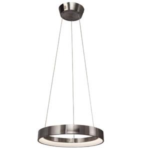 Fornello Brushed Nickel One-Light LED Round Pendant